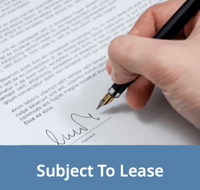 Signing A Document To Purchase A Home Subject To Lease